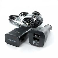 New OEM Samsung Adaptive Fast Dual Car & Wall Charger Lot Galaxy Note 4 5 S6 S7