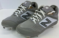 New Balance L3000v4 Mens Size 8 D Baseball Cleat Grey/White Good Condition