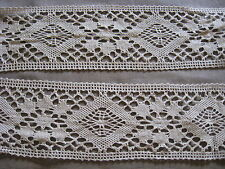 9 1/2 YDS GORGEOUS VINTAGE TAUPE SWISS COTTON CLUNY LACE TRIM.