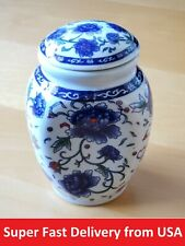 Antique Chinese Tea leaf Ceramic Container for home decoration and collectibles