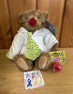 "The Vermont Teddy Bear Plush NWT Big Apple Circus Clown Care Unit 16"" Bear"