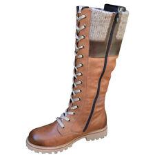 Women's Booties Red Mid Calf Low Length Chunky Heel Winter Low Thick Heel Boots