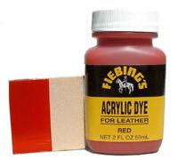 Fiebing's Acrylic Leather Dye, Red, 2 oz. / 59 mL