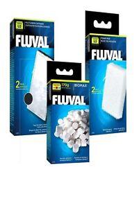 Fluval U Media Replacement Filter Foams Poly / Carbon & Biomax Full Set Hagen