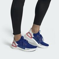 New Adidas UltraBoost 19 m in Cloud White/Blue/Red Colour Size 10.5
