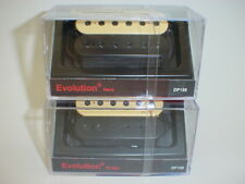 DIMARZIO DP158 & DP159 Evolution Neck & Bridge Pickup SET BLACK/CREME REG SPACED