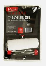 "Harris Finesse Paint Roller Set 7"" Emulsion Sleeves Frame Handle & Painting Tray"