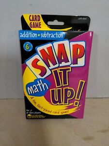 Snap It Up Math Card Game Addition Subtraction Learning Resources LER3044 NEW