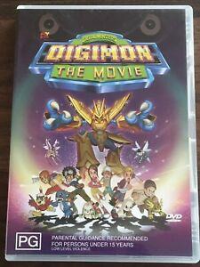 DIGIMON The Movie- DVD- RARE. Region 4.