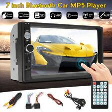 "7"" Double 2DIN Head Unit Car MP5 Player Touch Screen BT Radio FM/USB/AUX"