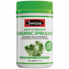 Swisse 1000mg High Strength Organic Spirulina Supplement Tablets