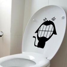 Big Mouth Laugh Cat Black Toilet Seat Wall Sticker Removable Wall Stickers Decal