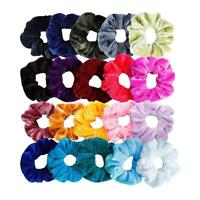 20pcs Girl Velvet Elastic Rubber Band Hair Rope Women Scrunchie Ponytail Holder