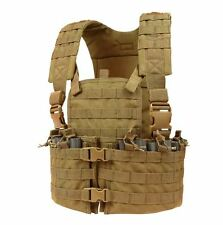 CONDOR MOLLE Nylon Chest Set Tactical Mag Holder Vest Rig cs-498 COYOTE BROWN
