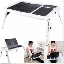 Laptop Desk Portable Multi Adjustable Foldable Table Stand Bed Notebook Tray+Fan