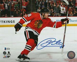 PATRICK KANE Signed Chicago BLACKHAWKS NHL 100th 8x10 PHOTO w/ Beckett COA
