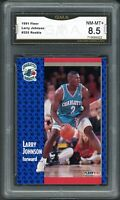 1991 Fleer #255 Larry Johnson RC Rookie Card Graded GMA 8.5 NM-MT+ Hornets