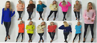 Ladies Long Sleeve Chunky Knitted Oversized  Warm Comfortable Jumper Size 8-26