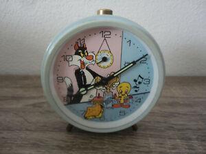 Ancien Réveil JAPY Titi et GROS MINET VINTAGE OLD ALARM CLOCK Animé Wecker RARE