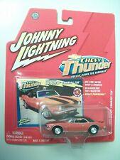 Johnny Lightning 1:64 scale 1968 Chevy Camaro Z-28, Chevy Thunder series, orange