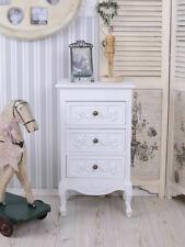 Kommode Chippendale Schrank Landhausstil Schublande Holz antik weiß Schlafzimmer