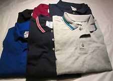 Golf Shirt 2XL Fruit of the loom 6 Pc Lot 6 Color 100 % Cotton