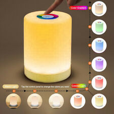 LED Touch Night Light Bedside Table Mood Lighting Lamp Dimmable USB Rechargeable