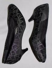 The PM Collection Starlight Sparkle Spiderweb Vintage Black/Silver Shoes Sz 7.5M