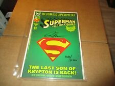 1993 ACTION COMICS #687 - REIGN OF SUPERMEN - SIGNED BY JERRY SIEGEL  C93 PV
