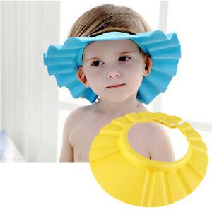 Baby Bath Shower Bathing Shampoo Visor Eye Shield Cap Hat Wash Safe Hair Kids