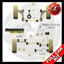 Skoda Octavia Mk2 1Z (04-) Powerflex Black Complete Bush Kit