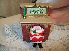 Hallmark Christmas Ornament Welcome Santa Ken Crow 1990 Fireplace