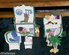 "Avon Miniature Furniture ""The Patio Series"" Collectibles Victorian Memories"