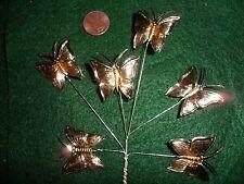 Vintage gold Metallic foil Butterflies