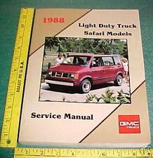 1988 GMC SAFARI VAN FACTORY PRINT SERVICE MANUAL