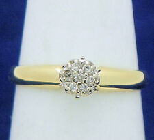 1/10 ctw DIAMOND CLUSTER RING SOLID 10 K GOLD 1.6 g SIZE 5.25