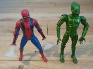 Marvel Spiderman (Lights Up) And Green Goblin Action Figures / In VGC