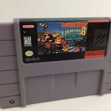 Donkey Kong Country 3 III Super Nintendo Snes TESTED WORKING (see screenshots)
