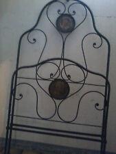 Letto d'epoca - Testata e Pediera in ferro battuto con decoro originale