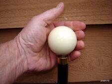 new white CUE/POOL BALL walking stick knobby WILD CHERRY cane~faux-blackthron