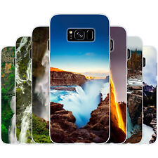Dessana waterfalls Silicone Protective Cover Case Mobile Phone Case for Samsung Galaxy