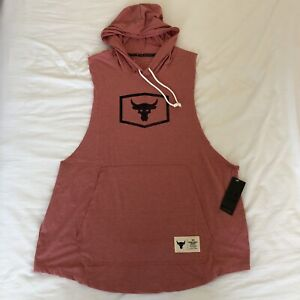 NWT Under Armour Project Rock Sleeveless Hoodie Tank XL 1347260-661