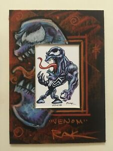 VENOM 5x7 matted mini print with original art sketch by RAK SPIDERMAN