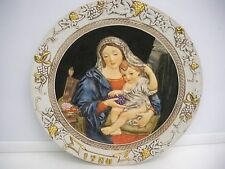 Madonna With Grapes P. Mignard Ceramica Excelsis Plate Ltd. Edition Religious
