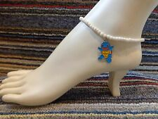 beads anklet beach stretchy handmade Squirtle enamel charm ankle bracelet