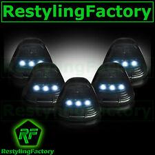 02-15 Dodge RAM TRUCK 1500+2500 5pcs Cab Roof Maker WHITE LED Lights SMOKE Lens