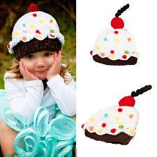 Infant Baby Boys Girls Crochet Knit Cupcake Shape Beanie Hat Photography Props