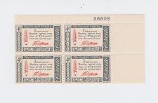 block of 4 THOMAS JEFFERSON CREDO stamps *BUY ONE GET ONE FREE* Scott #1141 MNH