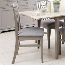 Florence High Back Upholstered Chair. Dove Grey Kitchen Dining Chair With Thick