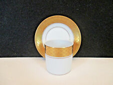 VA Vista Alegre White and Gold Demitasse Cup and Saucer, Portugal